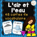 L'air et l'eau - Cartes de vocabulaire