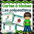 Les prépositions - Cartes à tâches