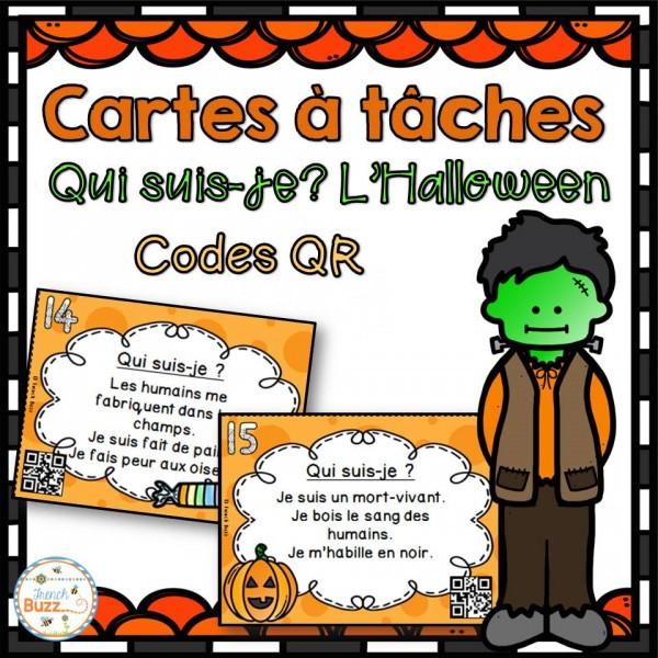 L'Halloween - Cartes à tâches - Codes QR