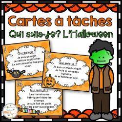 L'Halloween - Cartes à tâches - Qui suis-je?