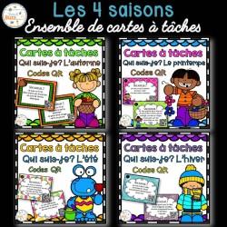 Codes QR - Les saisons - Cartes à tâches