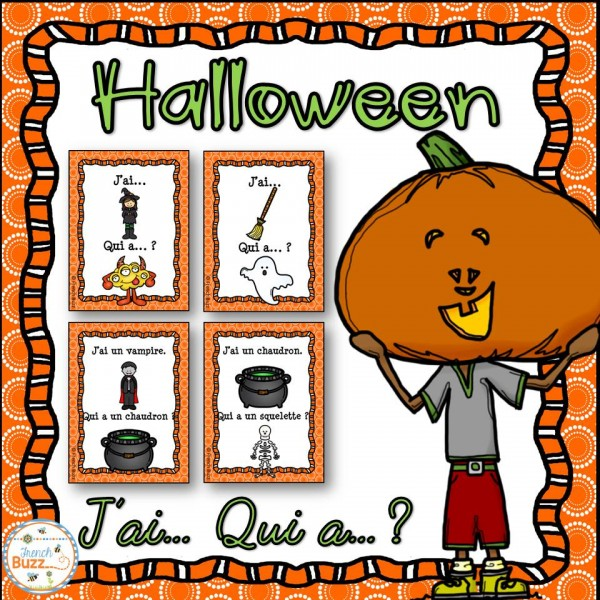 "L'Halloween - jeu ""j'ai... qui a...?"""