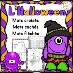 L'Halloween - mots croisés, cachés, fléchés