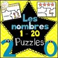 Les nombres 1-20 - Puzzles