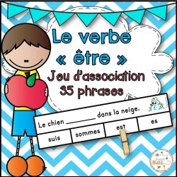 Le verbe être - jeu d'association - 35 phrases
