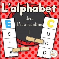 L'alphabet - jeu d'association