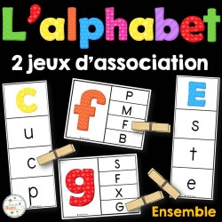 L'alphabet - 2 jeux d'association