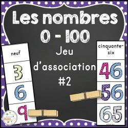 Nombres 0-100 - jeu d'association #2