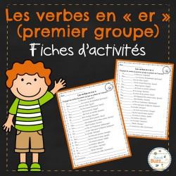 """Les verbes en """"er"""" - activités"""