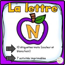"""L'alphabet - La lettre """"N"""""""