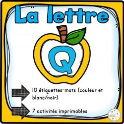 """L'alphabet - La lettre """"Q"""""""
