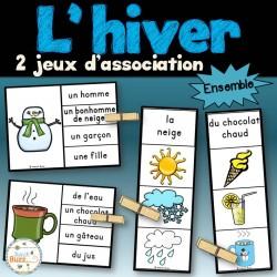 Hiver - Ensemble 2 jeux d'association