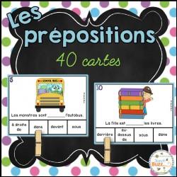 Les prépositions - Jeu d'association