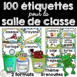 100+ étiquettes pour la classe - Grenouilles