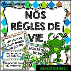 Règles de vie - Thème: grenouilles