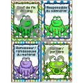 Responsabilités de classe -  Thème: grenouilles