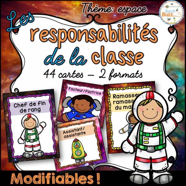 Responsabilités dans la classe - Thème: espace