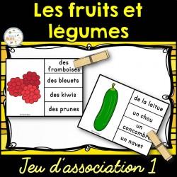 Fruits et légumes - Jeu d'association 1