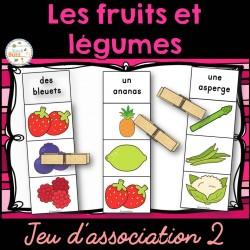 Fruits et légumes - Jeu d'association 2