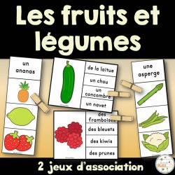 Fruits et légumes - Ensemble jeux d'association