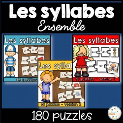 Les syllabes - Ensemble - 160 puzzles