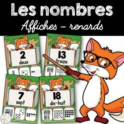 Nombres 1-20 - Affiches - Renards