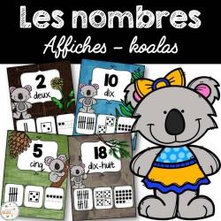 Nombres 1-20 - Affiches - Koalas