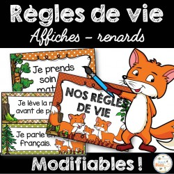 Règles de vie - Thème: renards