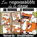 Responsabilités de classe - Thème: renards