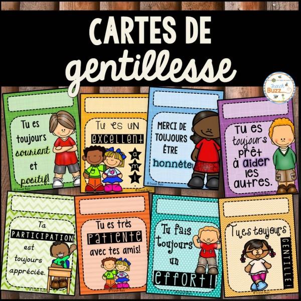Cartes de gentillesse