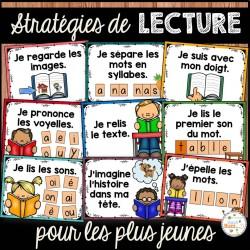 Stratégies de lecture - affiches pour les petits