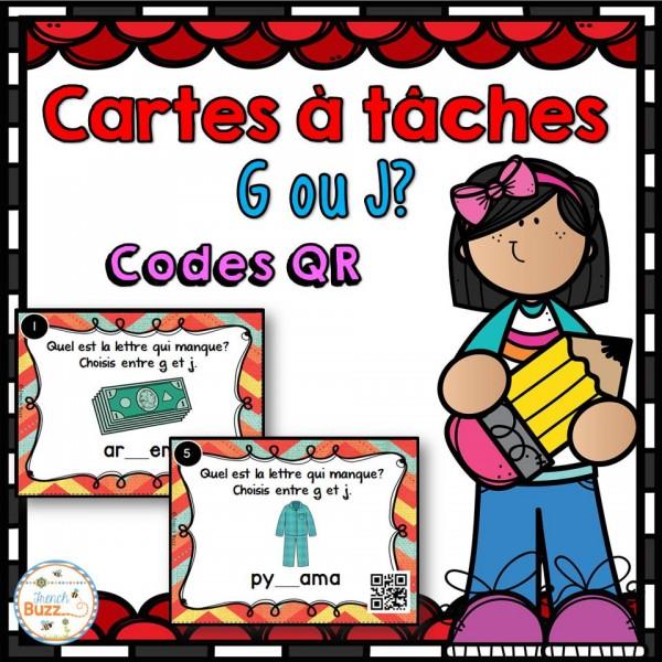 """Lettre """"j"""" ou """"g"""" - codes QR"""