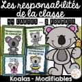 Responsabilités de classe - Thème: koalas
