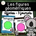 Les figures géométriques - Affiches - Koalas