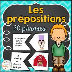 Les prépositions - Puzzles/Casses-tête