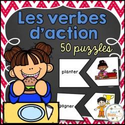 Les verbes d'action - 50 Puzzles
