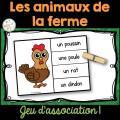 Les animaux de la ferme - Jeu d'association 1