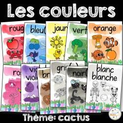 Les couleurs - affiches - cactus