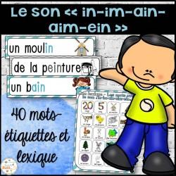 """Le son """"in"""" - mur de mots et lexique"""