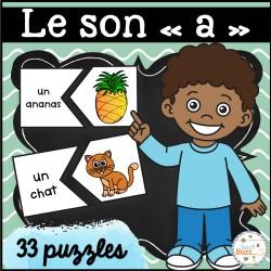 """Le son """"a"""" - 33 puzzles"""