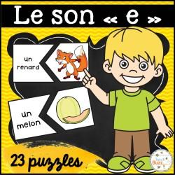 """Le son """"e"""" - puzzles"""