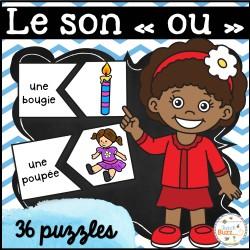 """Le son """"ou"""" - 36 puzzles"""