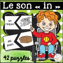 """Le son """"in"""" - 42 puzzles (casse-tête)"""