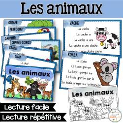 Lecture facile et répétitive - Les animaux