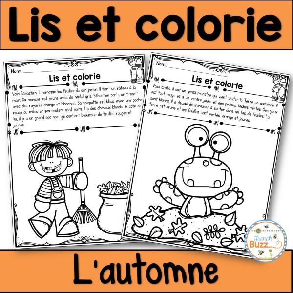 Lis et colorie - L'automne