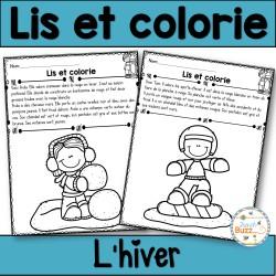 Lis et colorie - L'hiver