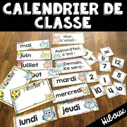 Calendrier de la classe - étiquettes - Hiboux