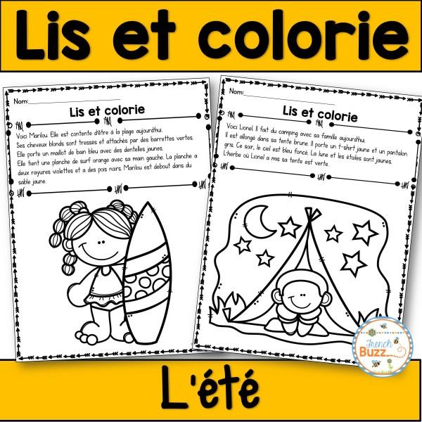 Lis et colorie - L'été