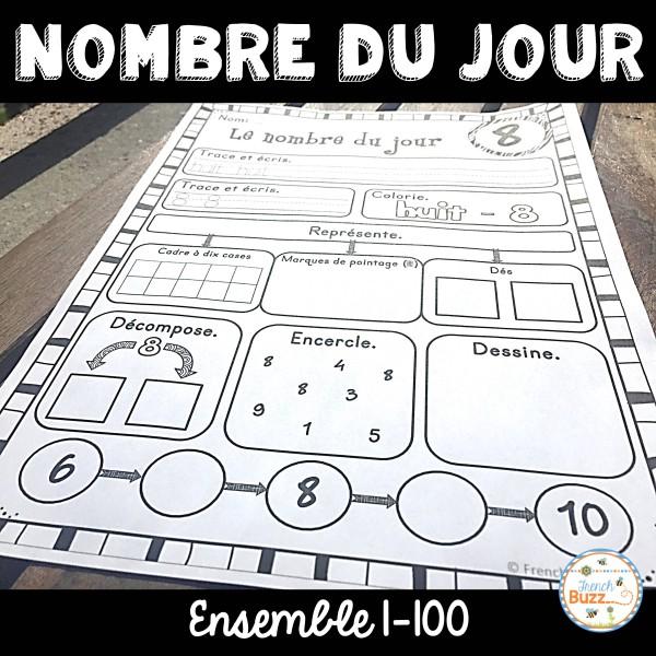 Le nombre du jour - les nombres 1-100 (Ensemble)