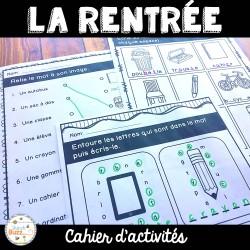 La rentrée - cahier d'activités de l'élève